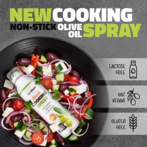 Sprej na pečení: Olive Oil Cooking Spray - GymBeam 201 g